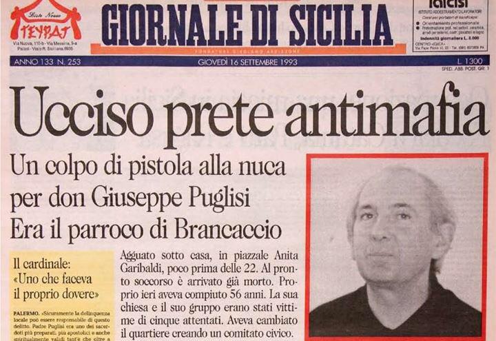 25 anni fa #DonPinoPuglisi venne ucciso dalla mafia nel giorno del suo 56esimo compleanno. Così come tanti altri cittadini onesti, senza timore e con il sorriso, ebbe il coraggio di sfidare Cosa nostra. Non smetteremo mai di combattere la #mafia... lo dobbiamo anche a lui.  - Ukustom