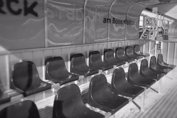 Das Spiel ist aus & das #Bölle leer. Allen eine gute Heimreise. Wir sagen 👋🏻bis zum nächsten Mal bei der Partie @sv98 vs @arminia #D98SVS Foto