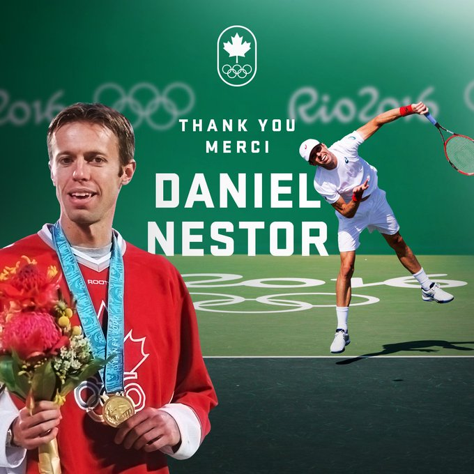 After 91 tournament titles and a 29 year career, Daniel Nestor will play his last game today, in front of a hometown crowd at the Davis Cup. 🎾 Thank you, Daniel! ❤️🇨🇦 Photo