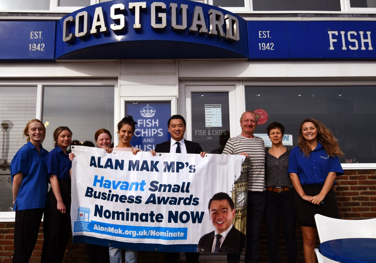 Alan Mak Mp On Twitter Please Send Me Your Nominations For My Havant Constituency Small Business Awards By 5 October Let Me Know Your Local Favourites Across 12 Categories Inc Best