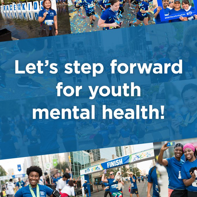 It's #RBCRaceForTheKids day! Are you ready to step forward for #youthmentalhealth? Like or share this post! View road closures, maps, and more useful info: Questions? Look for our volunteers in white T-shirts or message us here! Photo