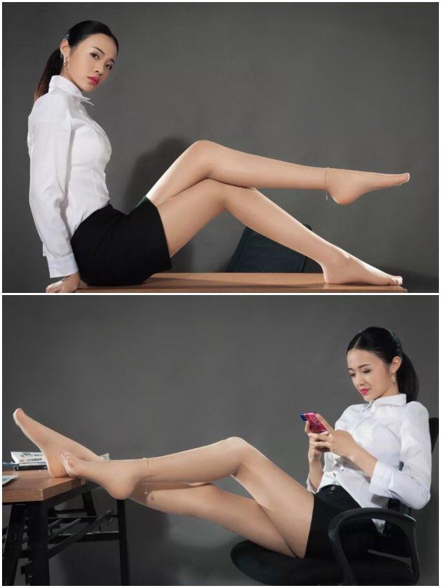 Legs Feet On Twitter Office Lady Height 178cm Shoe Size 39 2