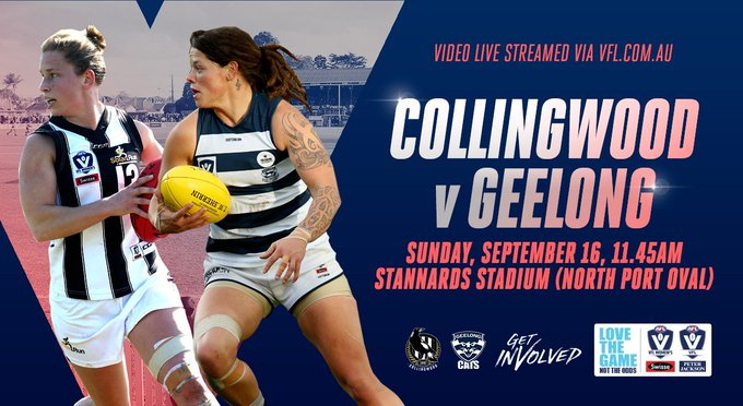 A trip to the grand final is up for grabs for @GeelongVFLW 🆚 Collingwood 🏟 Stannards Stadium ⏰ 11:45 AM 📺 Livestream 👉 #WeAreGeelong Photo