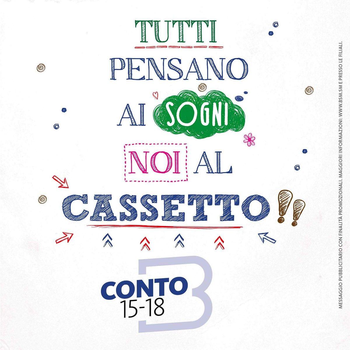Banca di San Marino on Twitter: CONTO GIOVANI 15-18 BSM PENSA AL ...