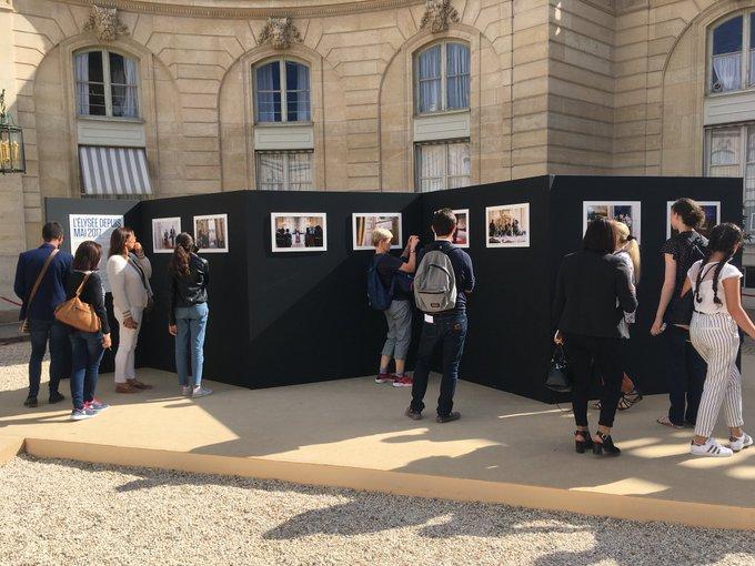 Très belle expo photo à l'@Elysee Merci @soazigdlm #JEP2018 Photo