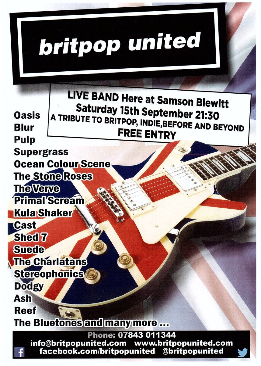 Britpop Tribute Band on Twitter: