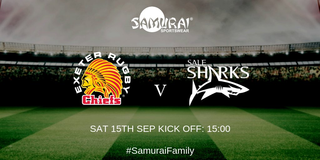 test Twitter Media - Best of luck to both of our #SamuraiFamily members, @ExeterChiefs and @SaleSharksRugby who will be playing at Sandy Park, 3pm today in their @samurai_sports match kits! Does your team want great kit just like the Chiefs and the Sharks? Get designing today>>https://t.co/zI2HfrkmSY https://t.co/mOlqRHr0O5