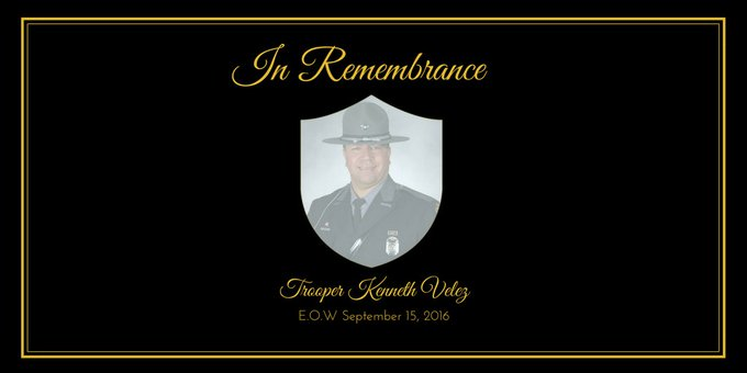Today we remember Trooper Kenneth Velez who was killed in the line of duty on September 15, 2016. Read more: Foto