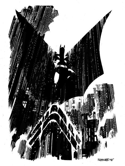 If you've been doling out vigilante justice all night, happy #BatmanDay Photo