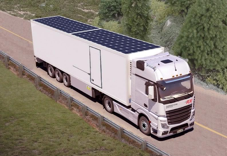 Solar Moves From Roofs To Semi Trucks And Trailers Http Ow Ly Ncde30lgrrj Lla Trucking Environment Eco Sustainablity Tech