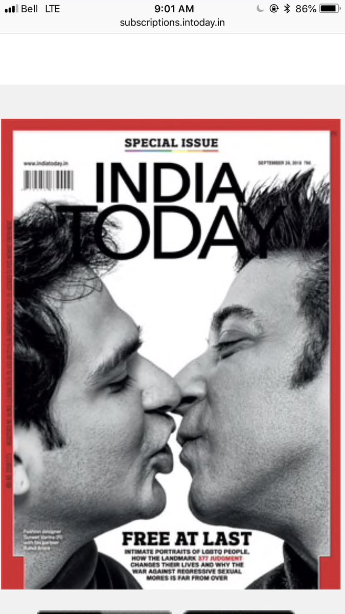 India's first 'Love is Love' cover features Suneet Varma and Rahul