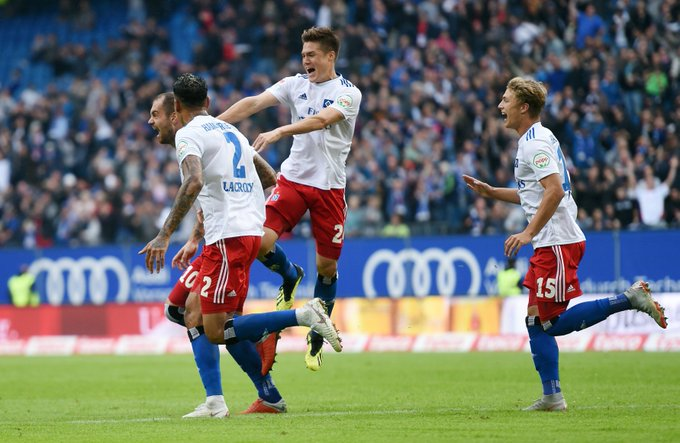 Just look how much it meant to the lads 😍 #nurderHSV #HSVFCH Foto