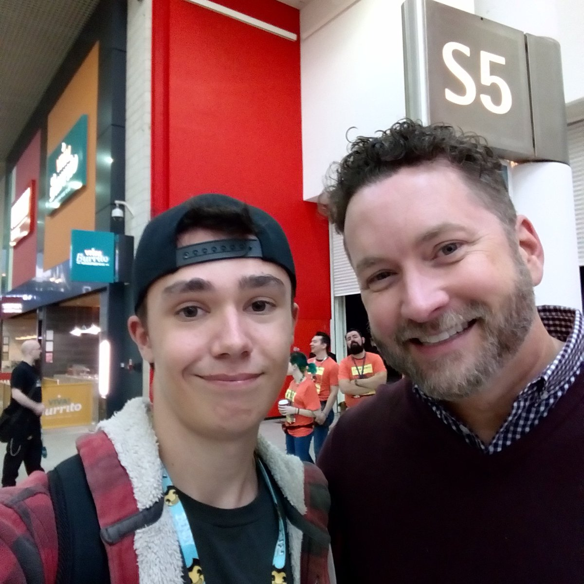 So today I got to meet my hero @burnie burns! Thanks for making my childhood!