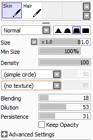 how to adjust pen pressure in sai