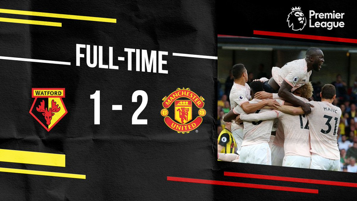 Thats that! First half goals from @RomeluLukaku9 and @ChrisSmalling are enough to give us an important 3 points, with @D_DeGea pulling off a huge save in the final seconds 💪 #MUFC #WATMUN