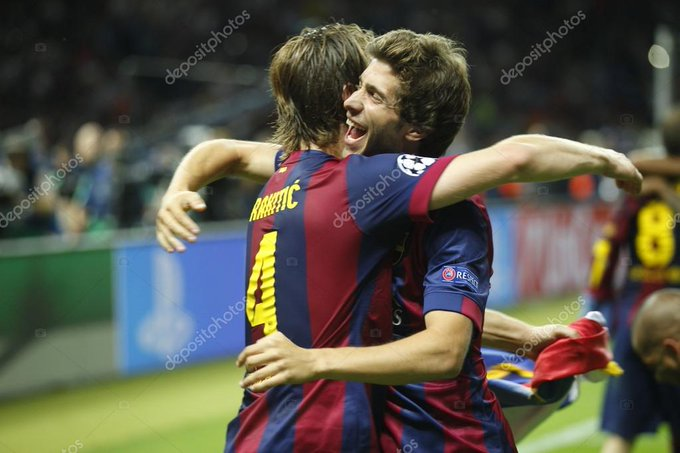 What do guys feel about the midfield pairing of Rakitic and Sergi Roberto Image[@depositphotos] Foto