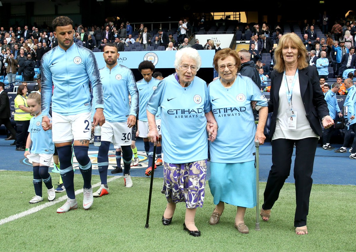manchester city on twitter 98 year old olga and 102 year old vera