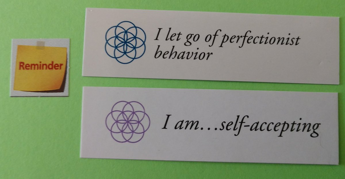 "test Twitter Media - Today's Positive Thoughts: I let go of perfectionist behavior and I am...self-accepting. #affirmation. Cards were randomly selected from sets of ""I am"" and ""Letting Go"". https://t.co/CJouG7BXcG"