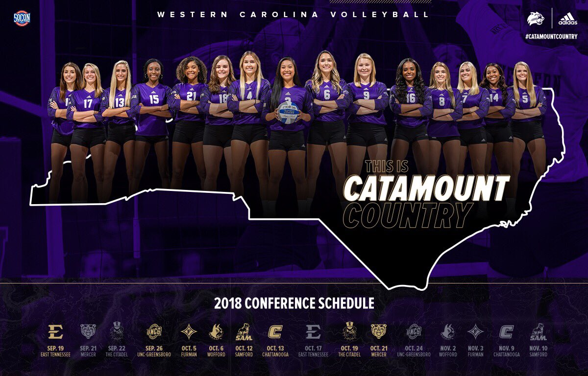 2018 WCU Volleyball  conference schedule