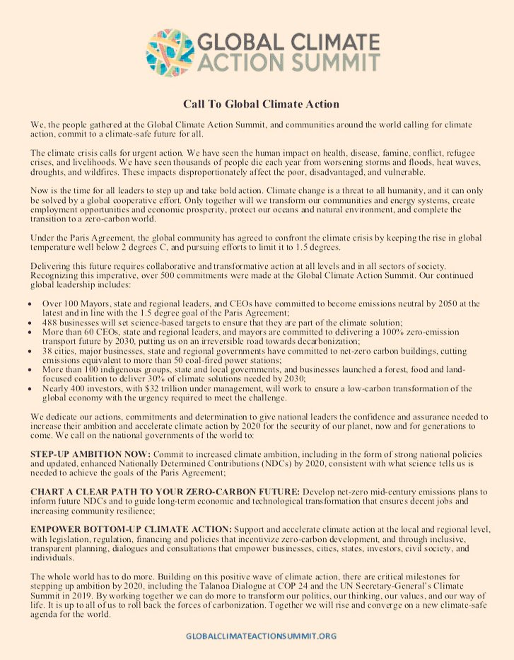 Un Climate Change On Twitter The Global Climate Action