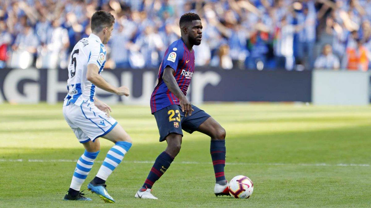 ⏰ Second half under way in Anoeta! Real Sociedad 1-0 FC Barcelona ⚽ Aritz Elustondo 💪 Lets go Barça! #RealSociedadBarça 🔵🔴 #ForçaBarça