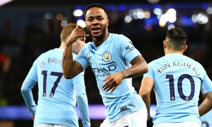 Watch: Raheem Sterling makes it 3 goals in 4 games with strike against Fulham #MCFC Photo