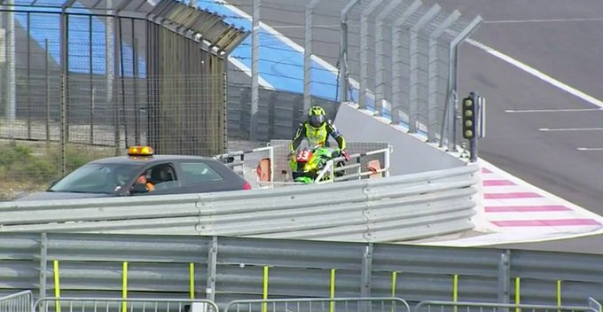 Not quite the way you want to go back to the pit ._. #BOL2018 #FIMEWC Photo