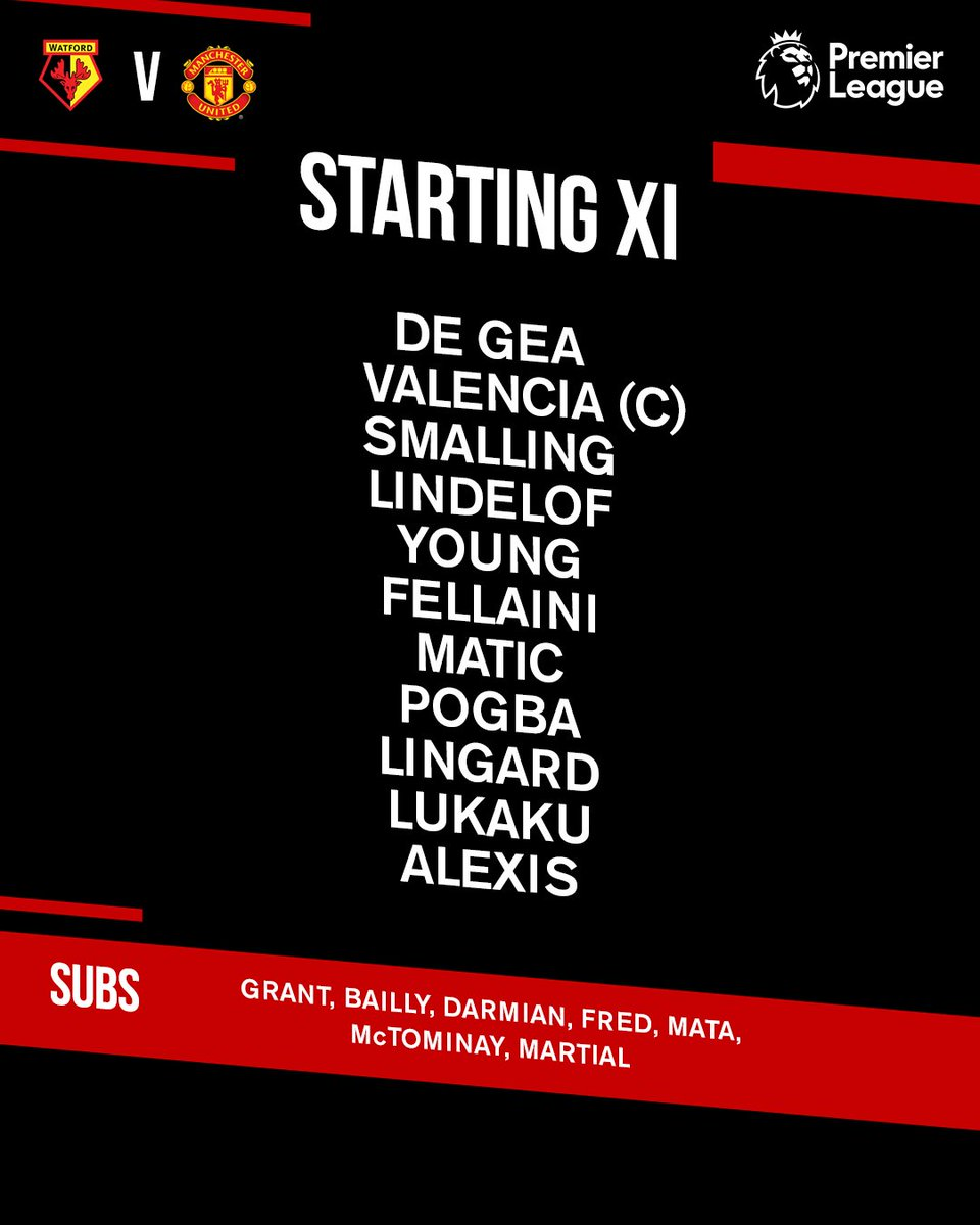 The #WATMUN team news is in!  There's one change for #MUFC, with @Youngy18 coming in for @LukeShaw23 to face his former club...