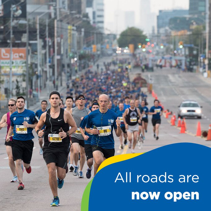 Thank you to our #NorthYork neighbours for welcoming us today! All roads are now open. #RBCRaceForTheKids Photo