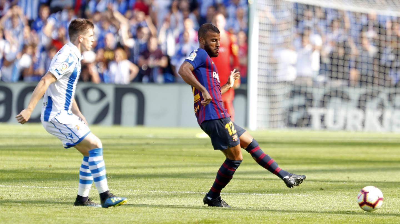�� Minuto 57: Segundo cambio en el Barça ��Sergio Busquets �� Rafinha #RealSociedadBarça https://t.co/hulTOZcZJO