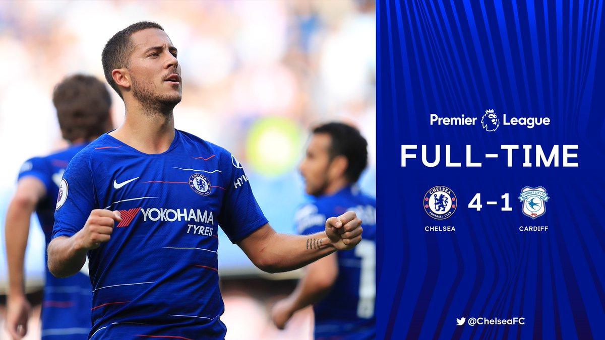 Chấm điểm kết quả Chelsea 4-1 Cardiff City