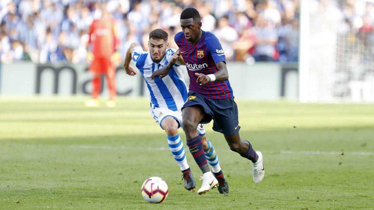 77: Final change for Barça 🔼Arturo Vidal 🔽Dembélé # RealSociedadBarça