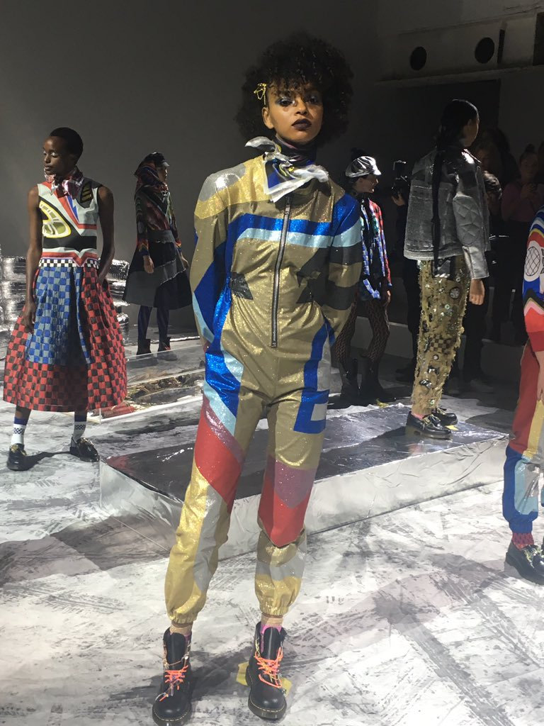 Biker girl chic from #alumna @SadieWilliamsUK #SS19 #LFW https://t.co/isjYNfuHHX