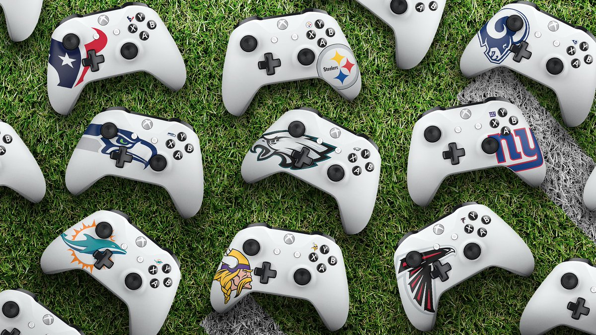 Who's your pick? Rep your team with a custom #XboxDesignLab controller: https://t.co/EhnDAoiAdB