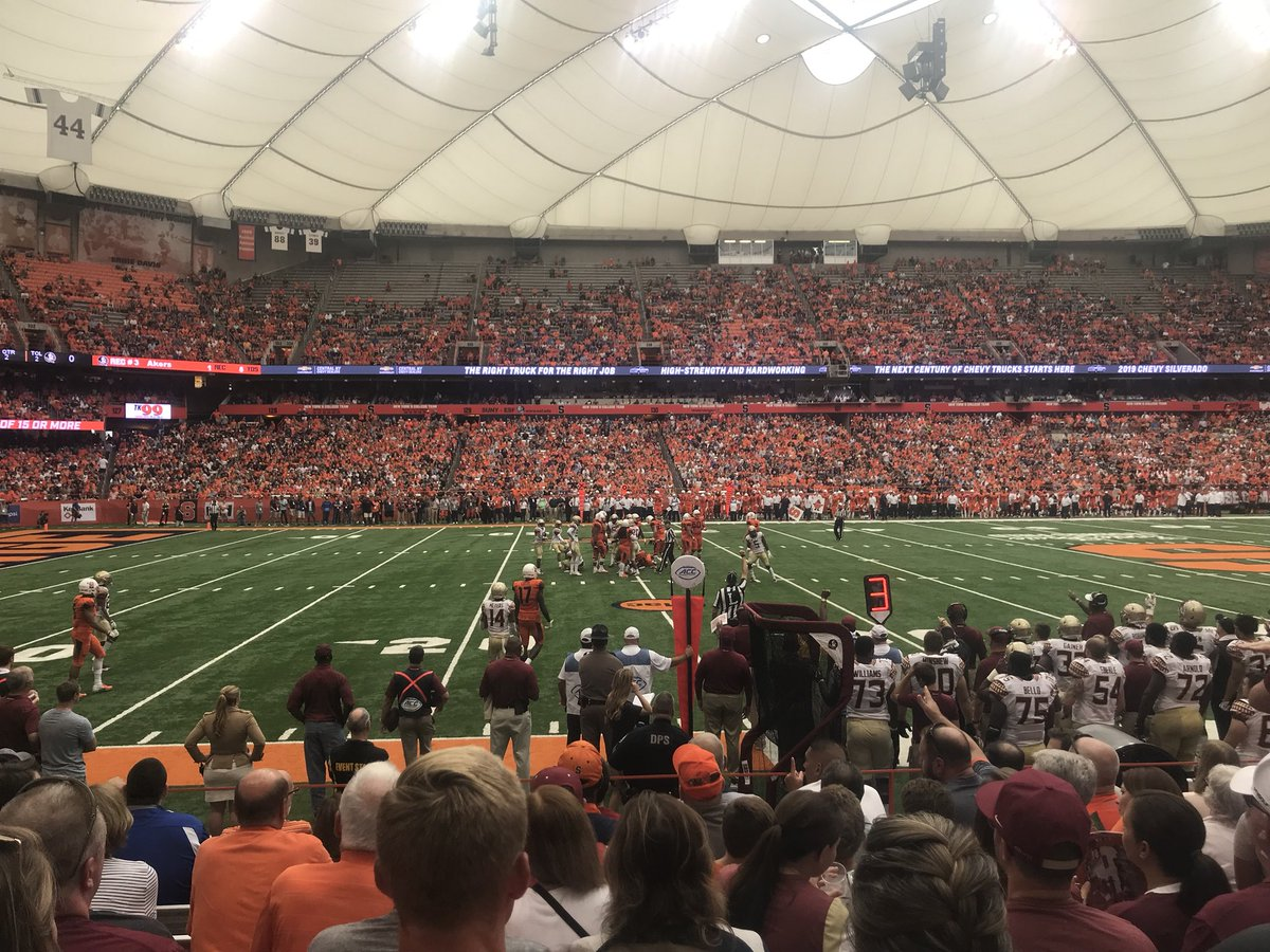 Hello @CuseFootball, it's been a while. @Cuse #CuseGameDay