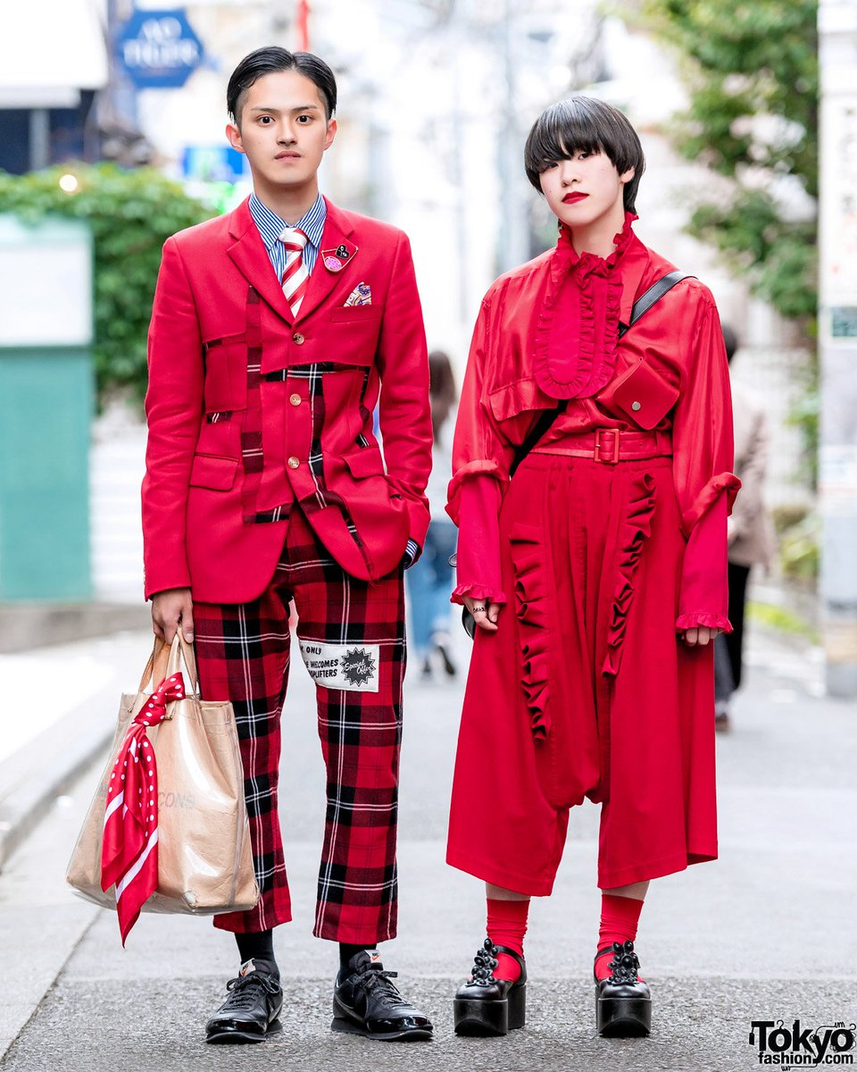 1ca2bc12b8ad ... harajuku wearing red and black styles by the legendary japanese fashion  brand comme des garcons