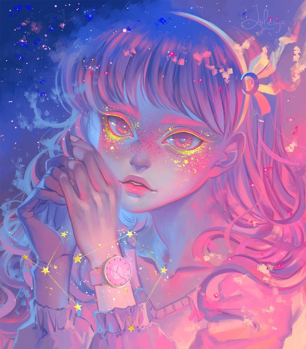 Otaku anime girl art