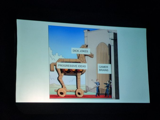 This might be my favorite slide in #FullIndieSummit so far. Photo