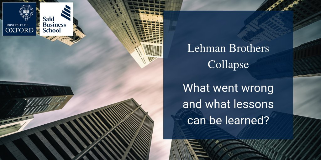 lessons learnt from collapse of lehman Lehman brothers - 10 years on: lessons learnt in the third and final instalment of a series marking the 10-year anniversary of lehman brothers' collapse , liontrust fund managers reflect on the lessons learnt from the global financial crisis (gfc) and how close we are to it happening again.