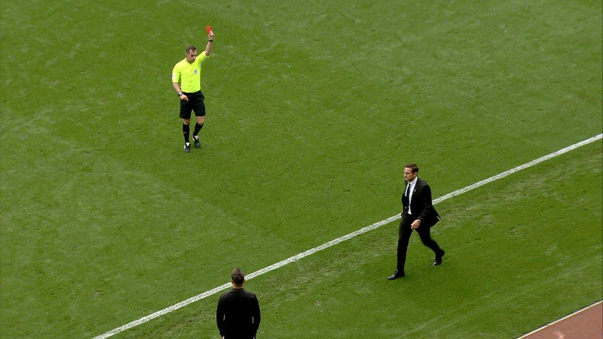 Лэмпард был удален с тренерской скамейки в матче Чемпионшипа - изображение 1