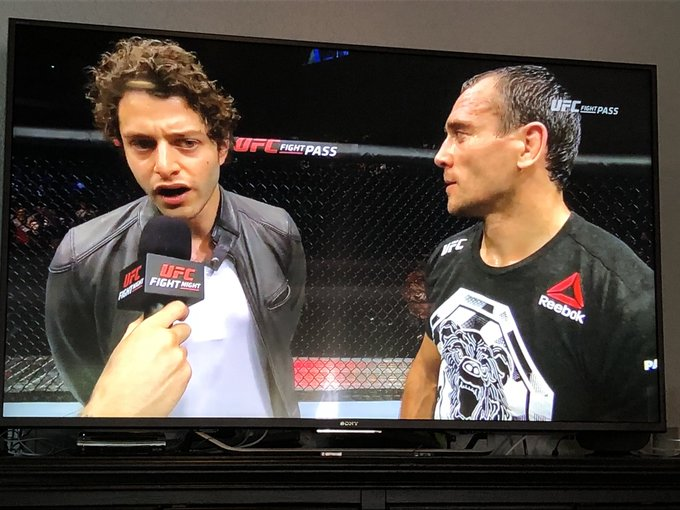 It's cool that the UFC got Nick Kroll as an interpreter for #UFCMoscow Photo