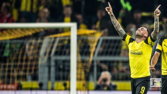 .@paco93alcacer feierte bei #BVBSGE einen perfekten Einstand beim @bvb. Dass neue Stürmer direkt knipsen hat in #Dortmund mittlerweile schon Tradition: Foto