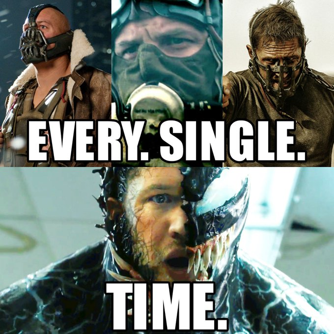 Happy birthday to the man in the mask Tom Hardy ! Which is your favorite of his films?
