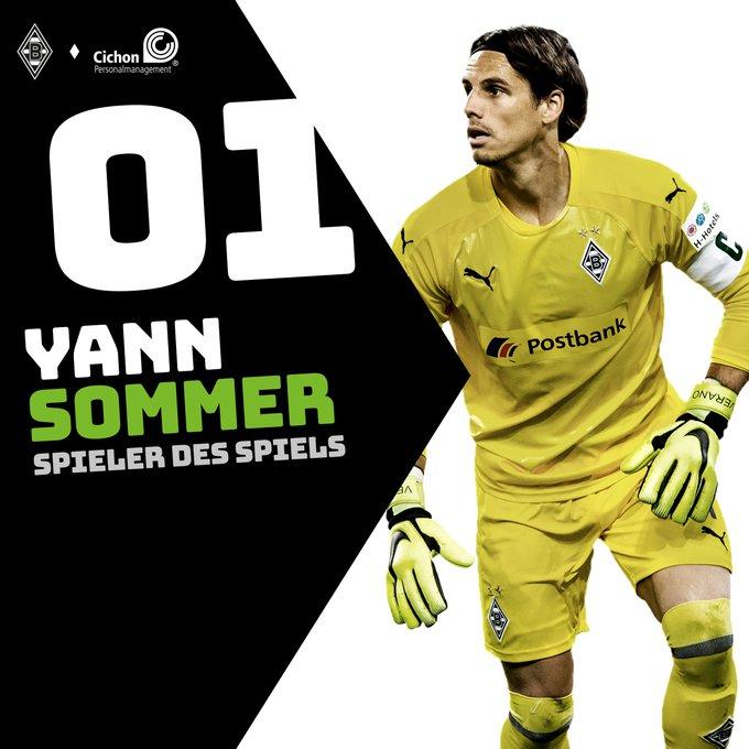 Ihr habt entschieden! Unsere Nummer 1 ist euer Spieler des Spiels! Glückwunsch, @YannSommer1! #BMGS04 Foto