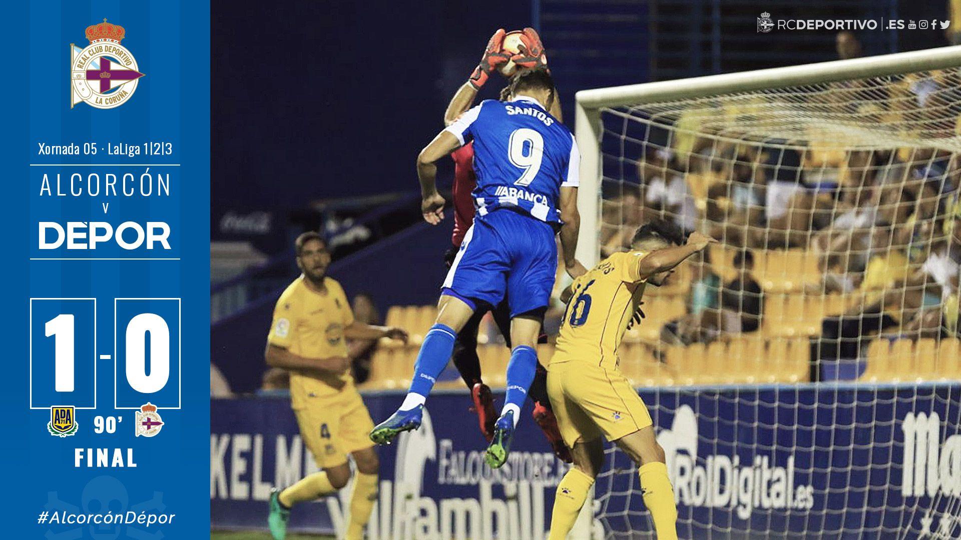Final do #AlcorcónDépor (1-0) no Estadio de Santo Domingo! https://t.co/qgGRnKXAJO