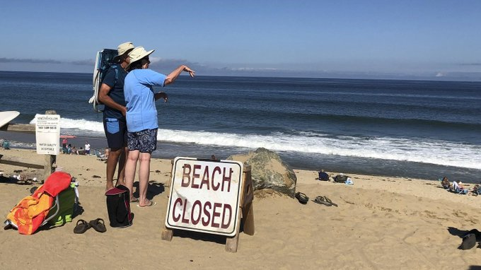 Swimmer Dead After Shark Attack On Cape Cod via @josephjett Photo