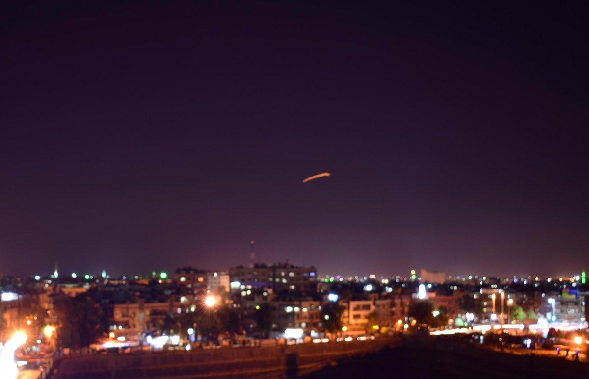 Ночной обстрел Израилем аэропорта Дамаска(видео)