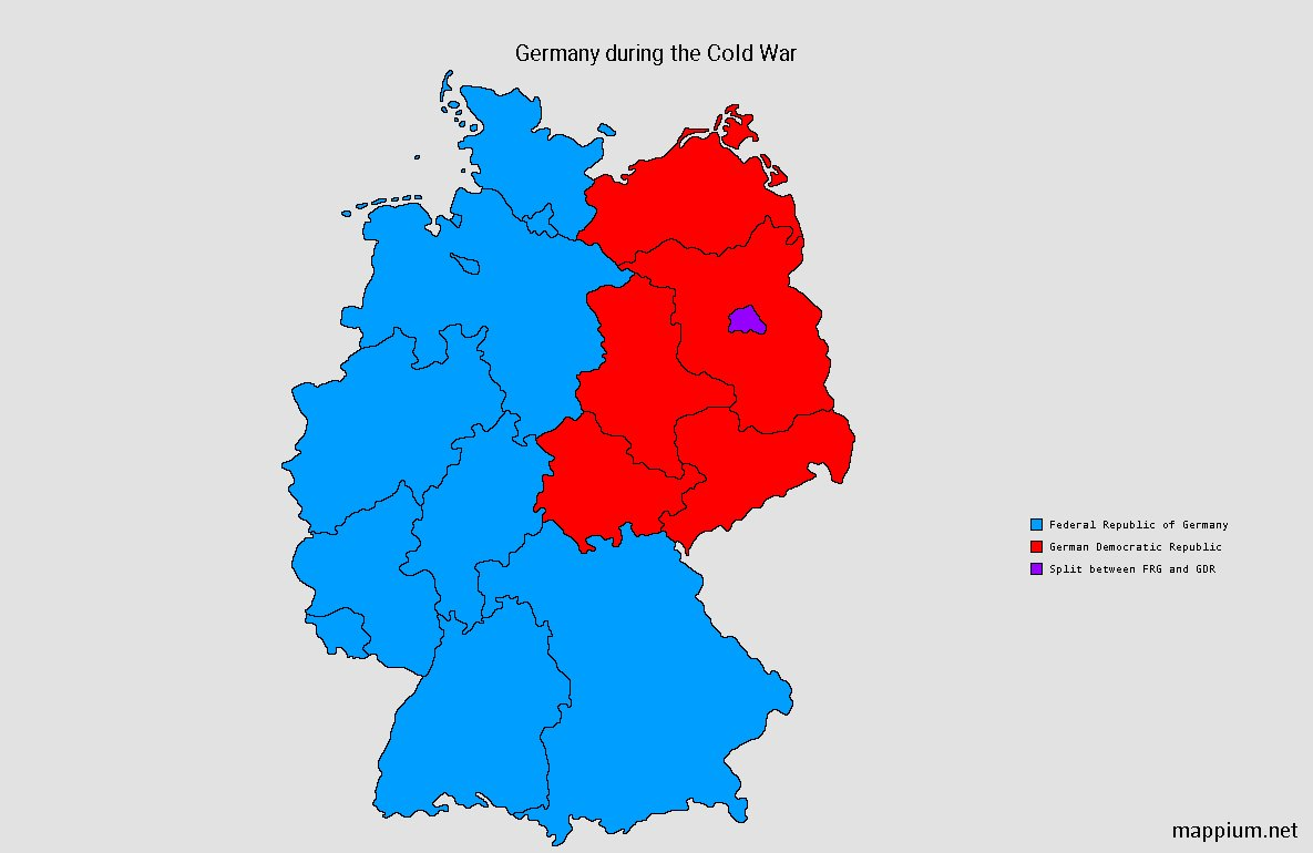 Map Of Germany During Cold War.Mappium Maps On Twitter German States During The Cold War Maps