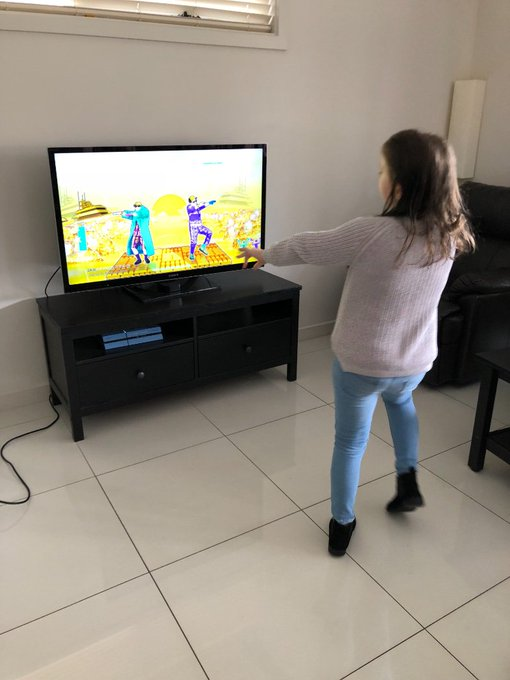 Unlimited energy - this morning we did the 6km #citybay and now it is #JustDance2019 😲 Photo
