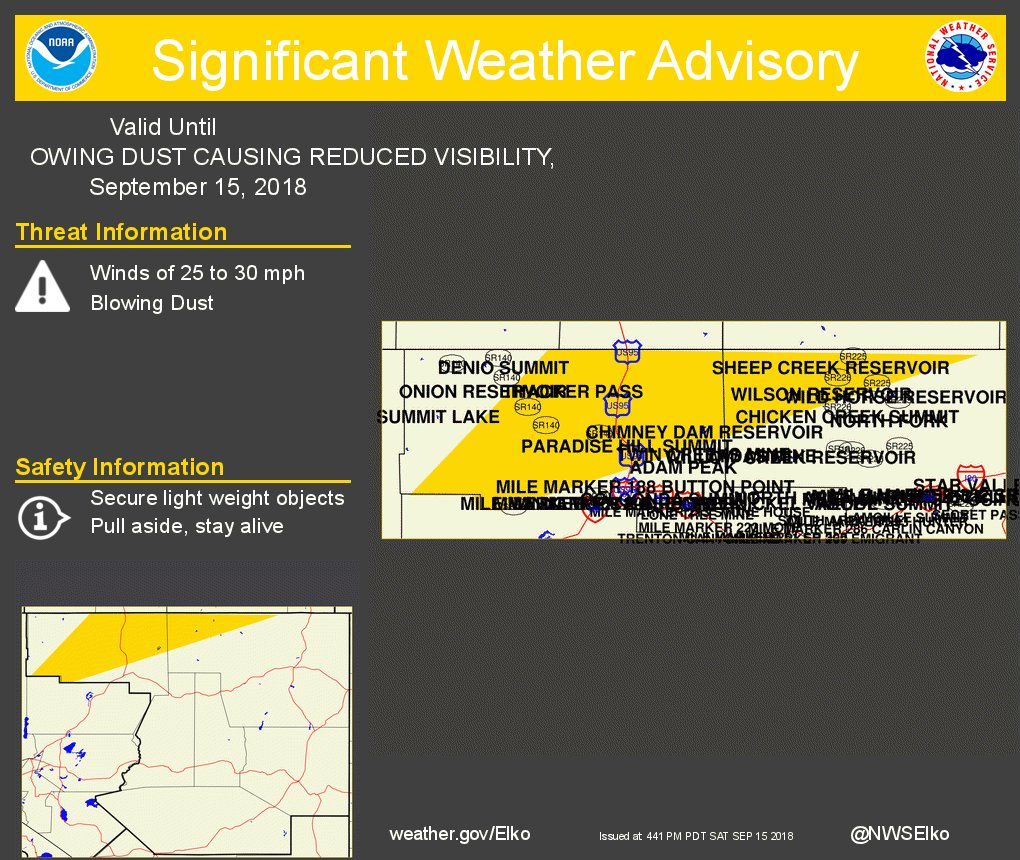 , Blowing Dust Causing Reduced Visibility. https://t.co/5SPI1SYLmi #nvwx
